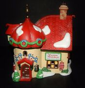 Dept.56 North Pole Series Custom Stichers Taylor Lighted House Christmas 56400