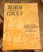 Roads To Cibola 1930 New Mexico Guide State Highway Commission Rare Map
