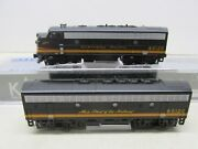 Kato Northern Pacific F7 A/b Powered Locomotiveand039s 6012d And 6012c N Scale