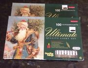 Lot 2 Christmas Lights 100 Super Bright Clear White Cord Holiday Traditions New