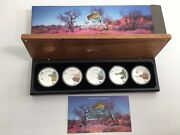 2013 Discover Australian Wildlife Complete 5 Coin 1 Pure Silver Coin Proof Set
