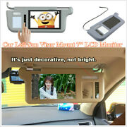 Car Left Sun Visor 7'' Monitor For Dvd/vcd/gps/tv Input Signal And Rearview Camera