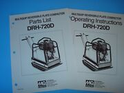 Mq Reversible Plate Compactor Drh-720d Operating Instructions And Parts List1993