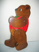 Wooden Hand Made Movable Arms And Legs Teddy Bear Pose In Different Positions