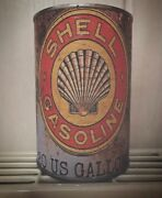 Shell Motor Oil Tin Cans Replica Rusty Mens Gift Man Father Vintage For Him Gas