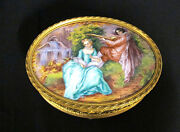 Gamet France Footed Bronze And Enamel Jewelry Box - 1900-1940 399