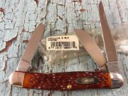 Mint Nos Western Camillus Stockman Cm67bk Peachseed Delrin Handles Made In Usa