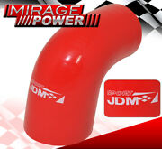 2.0 - 2.5 Inch 90 Degree Angle Silicone Coupler Turbo Intake Tube Pipe For Honda