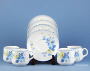 Set Of 4 Cups And Saucers Superb Noritake Good Times Progression 9081