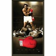 Muhammad Ali Hand Signed Framed Limited Edition Boxing Glove Foreman Frazier
