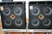 2 X Eden Xlt 410 Bass Cabinets Stack ★ Mit/with Ml Case ★ Excellent Condition ★
