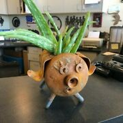 Coleman Propane Bottle Pig Planter Upcycled Small Pig Planter Made From Recycled