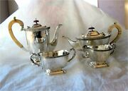 Sterling Silver Tea Coffee Set George Iii Style 1791 Gr. 4pc. Celtic Decorations