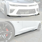 Zl1 Style Carbon Fiber Front Bumper Splitter And Side Skirts For 16-18 Camaro Ss