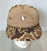 Ducks Unlimited Canada Sunparlour Chapter Brown Camouflage Snapback Hat Cap