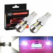 Car Auto Parking Lights 10-smd T10 T15 Canbus Obc Bulbs Interior Led Drl W5w