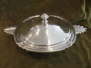 French Silverplate Christofle Gallia Covered Vegetable Dish Vendome Shells