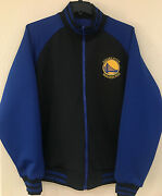 Golden State Warriors Menand039s Poly Track Reversible Jacket - Embroidery Logo - Nba