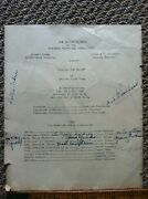 Tommy Cook - 1940 Play Program Signed Early Career Signature Rare