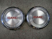 2 15 Gmc 1/2 Ton Pick-up Dog Dish Center Caps Hubcaps Wheel Covers
