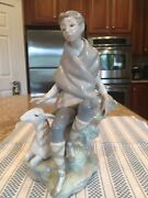 Lladro 4817 Little Shepard With Goat - Mint Condition
