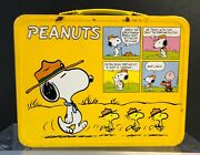 Smithsonian Listed Vintage Peanuts Charlie Brown Snoopy Metal Schulz Lunch Box