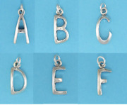 Letter Charms Jewelry .925 Sterling Silver - A B C D E F G H I J K L M N O Etc