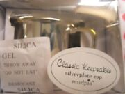 New In Box Mud Pie Baby Classic Keepsakes Silver Plate Cross Cup