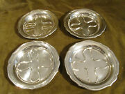 Rare 20th C French Sterling Silver 4 Bottle Coasters French 18th C Style 745g