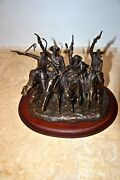 Franklin Mint Bronze Statue F Remington Coming Through The Rye