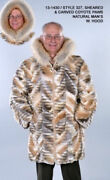 Brand New Sheared And Carved Coyote Fur Jacket Coat W/ Trim Men Man