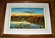 Terry Redlin Secluded Pond Ducks Unlimited Special Edition 38/40 Signed Du