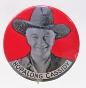 1950's Hopalong Cassidy Cowboy Rodeo Red Background Pinback Button