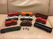 10 Lionel 1948 Freight Cars Caboose X6014 6465 6424 6456 63132 6457 6257 Sp 6462