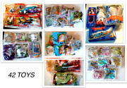 1990's Burger King And Mcdonalds Toys Lot Of 42 / Sealed / 5 Resealed / All New