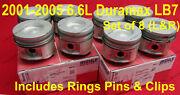 6.6l Duramax Lb7 Pistons 2001-2005 Standard Size Right Andleft Side W/ Rings Set 8