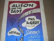 Alison And The Dads Poster Jimmys New Orleans La 1983 Rare Vintage Poster