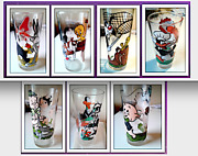 1976 Taco Bell Looney Tunes Pepsi Glasses 7 All Original And Serial Numbered New