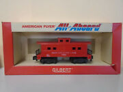 Original American Flyer S Scale 24636 Red Caboose In All Aboard Box
