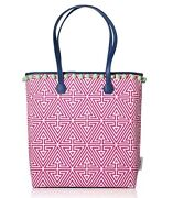 New Jonathan Adler Clinique Pink Makeup Bag Purse Tote Large Size Limited