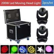 Us Stock 200w Gobo Beam Wash 3in1 Led Moving Head 4 Prism 2 Lights+ Flightcase