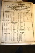 363lockwood And Hannington Glass Dealers Price List Flyer 1860-70and039s