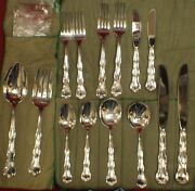 Gorham Sterling Rondo Flatware 14 Pieces Service For 2