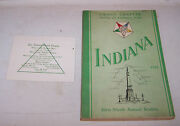 1943 Indiana Grand Chapter Order Of The Eastern Star Invitation And Program Book