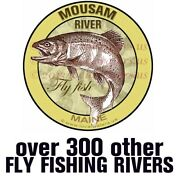 Mousam River Sticker Fly Fish Maine Fishing Decals Pack Of 2andnbspguarantee 3 Years