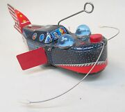 1950's Space Whale Pioneer Px-3 Space Ship Original Tin W/u Complete And Works