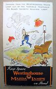 Scarce 1933 Fontaine Fox Toonerville Trolley Store Sign Westinghouse Mazda Lamps