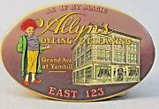 Rare Vintage Allynand039s Dyeing And Cleaning Portland Oregon Celluloid Pocket Mirror