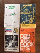 1969-70 And1968-69 Aba Basketball Press Radio Tv Media Guide Lot Of 4 Mint Cond