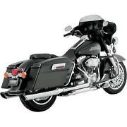 Vance And Hines Twin Slash Round Slip-ons Chrome 16763 See Details...